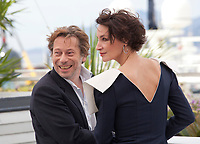 Director Mathieu Amalric and actress Jeanne Balibar at the Barbara film photo call at the 70th Cannes Film Festival Thursday 18 May 2017, Cannes, France. Photo credit: Doreen Kennedy