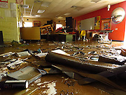 The art room at Richwood Middle School the morning after the flood.  This room took the hardest hit as the Cherry River knocked out a floor-to-ceiling window and filled the space with water nearly 5 feet deep. Photo by Jeromy Rose.