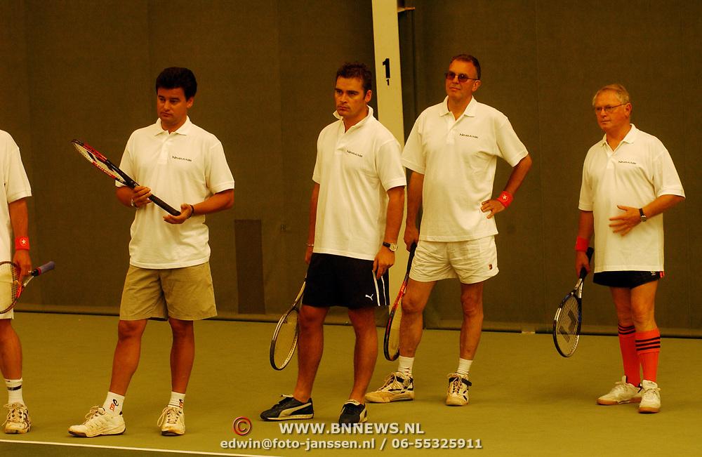 Tennisclinic Hilversum Open 2004, Wilfred Genee, Rolf Pagano, Hans Böhm, Jan Nagel