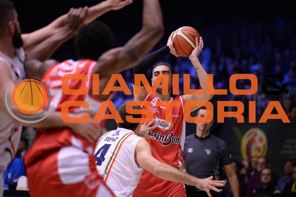 Aradori Pietro<br /> Grissin Bon Reggio Emilia - Betaland Capo D'Orlando  <br /> Poste Mobile Final Eight F8 2017 <br /> Lega Basket 2016/2017<br /> Rimini, 16/02/2017<br /> Foto Ciamillo-Castoria/M.Longo