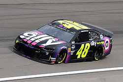 March 1, 2019 - Las Vegas, NV, U.S. - LAS VEGAS, NV - MARCH 01: Jimmie Johnson (48) Rick Hendrick Chevrolet Camaro ZL1 drives through turn four during practice for the Monster Energy NASCAR Cup Series 22nd Annual Pennzoil 400 on March 1, 2019, at the Las Vegas Motor Speedway in Las Vegas, Nevada. (Photo by Michael Allio/Icon Sportswire) (Credit Image: © Michael Allio/Icon SMI via ZUMA Press)