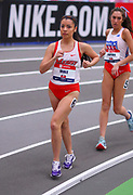 Katherine Miale competes during the 3000 yard race walk during the USA Indoor Track and Field Championships in Staten Island, NY, Sunday, Feb 24, 2019. (Rich Graessle/Image of Sport)