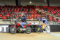 Virginie Cueff - 27.01.2015 -Entrainement Equipe de France de cyclisme sur piste - Saint Quentin en Yvelines <br />Photo : Anthony Dibon / Icon Sport