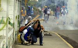 July 18, 2017 - Naguanagua, Carabobo, Venezuela - Protesters clash with Venezuela security forces for more than 5 hours.. (Credit Image: © Juan Carlos Hernandez via ZUMA Wire)