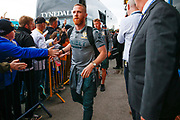Leeds United midfielder Adam Forshaw (4) arriving during the EFL Sky Bet Championship match between Leeds United and Brentford at Elland Road, Leeds, England on 21 August 2019.