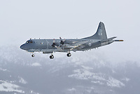 Lockheed RCAF CP-140 Aurora on final approach to Whitehorse