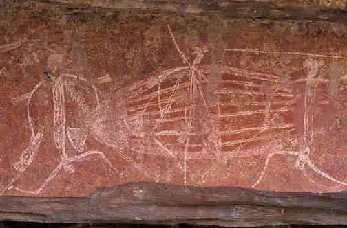 Kakadu National Park, Aboriginal rock art at Ubirr. Australia.