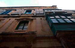MALTA GOZO VICTORIA JUL00 - Old medeival balconies decorate housefronts in Victoria.. . jre/Photo by Jiri Rezac. . © Jiri Rezac 2000. . Tel:   +44 (0) 7050 110 417. Email: info@jirirezac.com. Web:   www.jirirezac.com