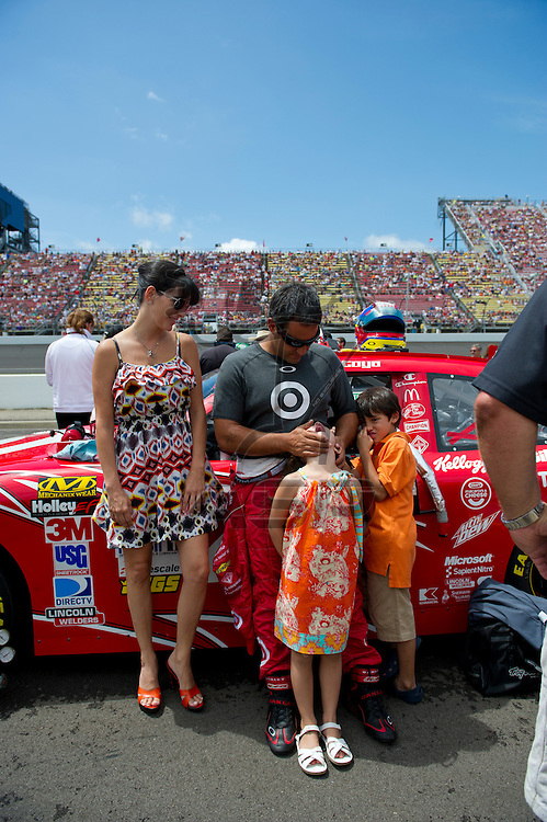 Brooklyn, MI - JUN 17, 2012: Juan Pablo Montoya (42) during the Sprint Cup Quicken Loans 400 race at Michigan International Speedway in Brooklyn, MI.
