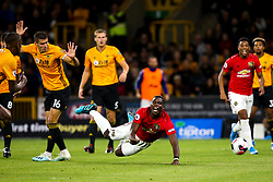 Paul Pogba of Manchester United is fouled by Conor Coady of Wolverhampton Wanderers and awarded a penalty - Mandatory by-line: Robbie Stephenson/JMP - 19/08/2019 - FOOTBALL - Molineux - Wolverhampton, England - Wolverhampton Wanderers v Manchester United - Premier League