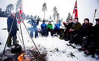 Langrenn<br /> World Cup Drammen<br /> 19.02.11 Konnerud Stadion<br /> <br /> Hundreds of people camped outside along the course to get good spots for the race on saterday. <br /> <br /> Photo: Eirik Førde