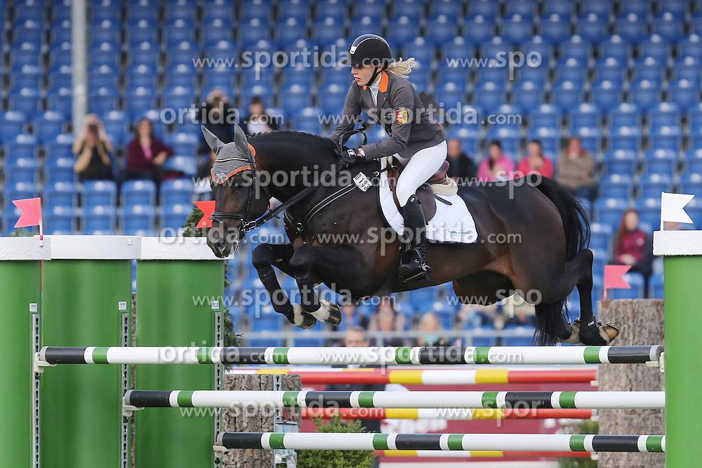 30.05.2015, Aachener Soers, Aachen, GER, CHIO Aachen 2015, im Bild Laura Klaphake (GER) auf Ihren Pferd Cinsey belegt Platz 2. // during the CHIO Aachen 2015 World Equestrian Festival at the Aachener Soers in Aachen, Germany on 2015/05/30. EXPA Pictures &copy; 2015, PhotoCredit: EXPA/ Eibner-Pressefoto/ Roskaritz<br /> <br /> *****ATTENTION - OUT of GER*****