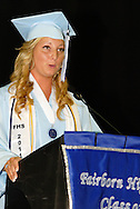 Casey Gayheart delivers a valedictory address during the Fairborn High School commencement at the Nutter Center in Fairborn, Friday, May 27, 2010.