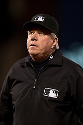 SAN FRANCISCO, CA - SEPTEMBER 09:  MLB umpire Brian Gorman #9 stands on the field during the second inning between the San Francisco Giants and the Arizona Diamondbacks at AT&T Park on September 9, 2014 in San Francisco, California.  The San Francisco Giants defeated the Arizona Diamondbacks 5-1.  (Photo by Jason O. Watson/Getty Images) *** Local Caption *** Brian Gorman