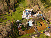 Nederland, Utrecht, Gemeente Stichtse Vecht, 20-02-2012; Loenen aan de Vecht, villa landhuis Rijkman Groenink ex ABN-Amro, landgoed Vrederijk.Villa and estate of former banker Rijkman Groenink of ABN-Amro..luchtfoto (toeslag), aerial photo (additional fee required);.copyright foto/photo Siebe Swart.