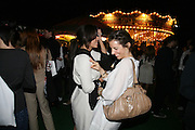 Stefanie Castillon and Candice Bordeaux, Moet Mirage, Holland Park. 16 September 2007. -DO NOT ARCHIVE-© Copyright Photograph by Dafydd Jones. 248 Clapham Rd. London SW9 0PZ. Tel 0207 820 0771. www.dafjones.com.