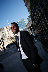 UK ENGLAND LONDON 28MAR12 - Zin Bekkali, founder and CEO of Silk Invest poses for a portrait at the company's HQ in Lombard Street in the city of London...jre/Photo by Jiri Rezac..© Jiri Rezac 2012