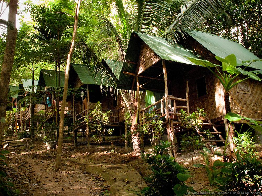 Bungalows in Tonsai, Thailand.