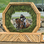 Waylon Roberts (CAN) and Kelecyn Cognac at the Jaguar Land Rover Bromont CCI in Bromont, Quebec.