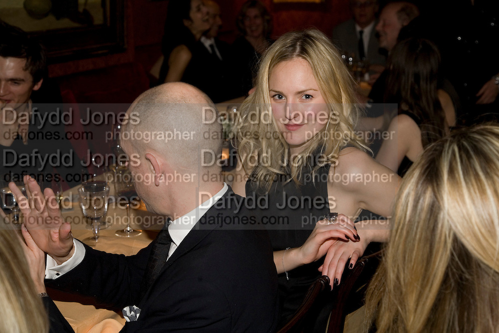 DYLAN JONES AND MADDIE PLATT, Pre Bafta dinner hosted by Charles Finch and Chanel. Mark's Club. Charles St. London. 9 February 2008.  *** Local Caption *** -DO NOT ARCHIVE-© Copyright Photograph by Dafydd Jones. 248 Clapham Rd. London SW9 0PZ. Tel 0207 820 0771. www.dafjones.com.