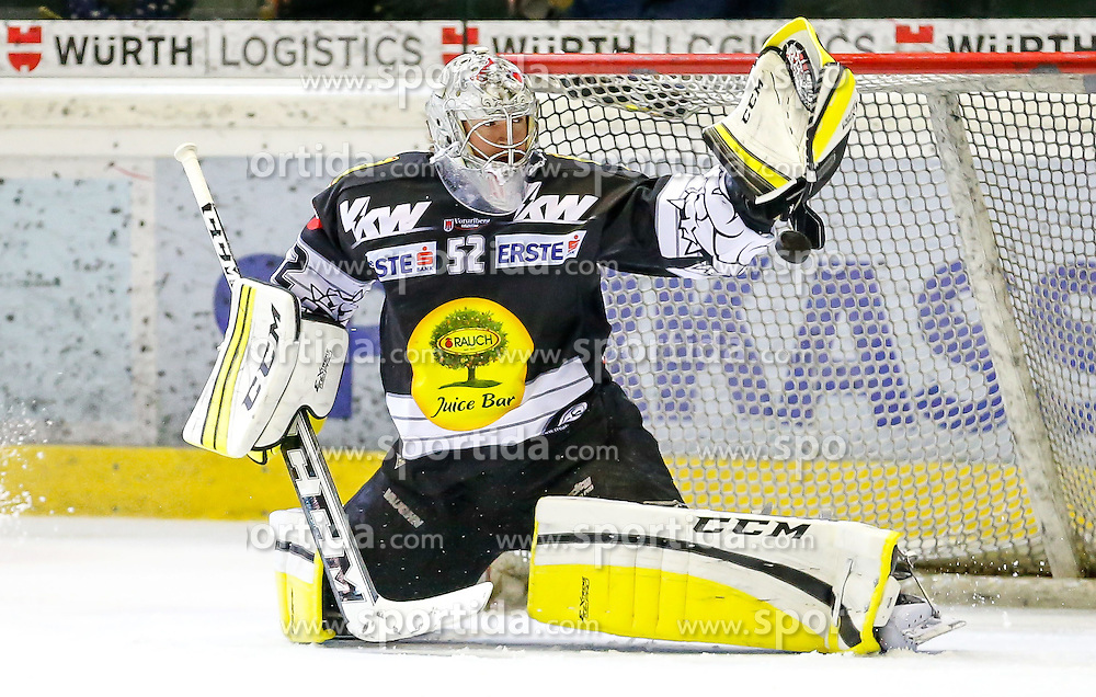 18.01.2015, Messestadion, Dornbirn, AUT, EBEL, Dornbirner EC vs HCB Suedtirol, 40. Runde, im Bild Nathan Lawson, (Dornbirner EC, #52) // during the Erste Bank Icehockey League 40th round match between Dornbirner EC and HCB Suedtirol at the Messestadion in Dornbirn, Austria on 2015/01/18, EXPA Pictures © 2015, PhotoCredit: EXPA/ Peter Rinderer