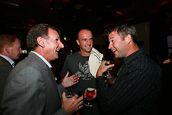LIVERPOOL, ENGLAND - WEDNESDAY, JUNE 9th, 2005: Barry Cowen and Phil Thompson share a joke with Ivan Ljubicic at the Players Party at the St Thomas Hotel during the 4th Liverbird Developments Liverpool International Tennis Tournament. (Pic by Dave Rawcliffe/Propaganda)