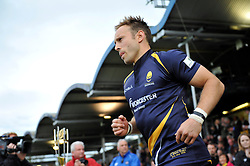 Chris Pennell of Worcester Warriors makes his way onto the pitch - Photo mandatory by-line: Patrick Khachfe/JMP - Mobile: 07966 386802 27/05/2015 - SPORT - RUGBY UNION - Worcester - Sixways Stadium - Worcester Warriors v Bristol Rugby - Greene King IPA Championship Play-off Final (Second leg)