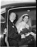 18/02/1957<br /> 02/18/1957<br /> 18 February 1957<br /> Wedding Dr K. Murphy and J. Fitzgerald at St. Mary's Church, Haddington Road and reception at Salthill Hotel, Monkstown. Bride and Groom  in the car.