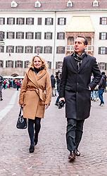 24.02.2018, Goldenes Dachl, Innsbruck, AUT, Landtagswahl in Tirol 2018, SPOe Wahlkampfschlussveranstaltung, im Bild v.l.: Spitzenkandidatin Elisabeth Blanik (SPOe), Bundesparteiobmann Christian Kern (SPOe) // during a campaign event of the SPOe Party for the State election in Tyrol 2018. Goldenes Dachl in Innsbruck, Austria on 2018/02/24. EXPA Pictures © 2018, PhotoCredit: EXPA/ JFK
