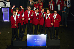 The 2017 SkillsUSA National Leadership and Skills Conference Competition Medalists were announced Friday, June 23, 2017 at Freedom Hall in Louisville.<br /> <br /> TeamWorks<br /> <br /> Team F (consisting of Andres Zapata, Chloe Bush, Joseph Herman, Allan Harlow)<br />   High School Belton High School<br />   Gold Belton, TX<br /> TeamWorksTeam N (consisting of Austin McClimans, Nolan Weaver, Jared Kaiser, Wyatt Cook)<br />   High School Vanguard-Sentinel CTC-Sentinel Campus<br />   Silver Tiffin, OH<br /> TeamWorksTeam A (consisting of Carter Arrington, Hamilton Noggle, Jason Burdette, Jarrod Rollins)<br />   High School Adairsville High School<br />   Bronze Adairsville, GA<br /> TeamWorksTeam B (consisting of Aaron Brumfield, Ben Hull, Seth Johnson, Ross Green)<br />   College Salt Lake Community College<br />   Gold Salt Lake City, UT<br /> TeamWorksTeam H (consisting of Jason Wells, Federico Pantoja, Marco Luna, Yamill Perez)<br />   College Los Angeles Trade Tech College<br />   Silver Los Angeles, CA<br /> TeamWorksTeam F (consisting of Joseph Brubaker, Tony DiBucci, Philip Kneller, Aaron White)<br />   College Penn College of Tech<br />   Bronze Williamsport, PA