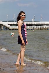 Girl at beach on June 18, 2012. Photo by Vid Ponikvar / Sportida.