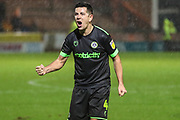Forest Green Rovers Lloyd James(4) at the end of the match during the EFL Sky Bet League 2 match between Yeovil Town and Forest Green Rovers at Huish Park, Yeovil, England on 8 December 2018.