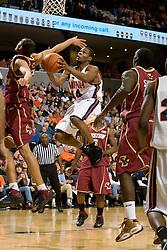 Virginia guard Sean Singletary (44) leaps towards the basket against BC.  The Virginia Cavaliers men's basketball team defeated the Boston College Golden Eagles 84-66 at the John Paul Jones Arena in Charlottesville, VA on January 19, 2008.