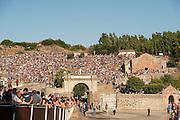 Sardegna, Italy. Sedilo, Santuario di Santu Antine (1789), festa dell'Ardia in onore di San Constantino. 6-7 luglio