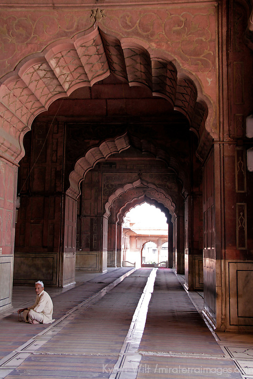 Asia, India, New Delhi. The Jama Masjid Mosque in Old Delhi.
