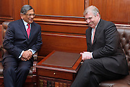 """PRINCE ANDREW.meets with Indian Foreign Minister S. M. Krishna in New Delhi, India on April 30, 2012. .The Duke of York is on a week-long visit to further enhance ties with India in diverse areas including defence and trade. .The Prince, representing Queen Elizabeth II in the year of her Diamond Jubilee, will also travel to Mumbai, Kolkata, Chennai, Bangalore and north eastern state of Nagaland. .Mandatory Credit Photo: ©Solaris-NEWSPIX INTERNATIONAL..(Failure to credit will incur a surcharge of 100% of reproduction fees)..                **ALL FEES PAYABLE TO: """"NEWSPIX INTERNATIONAL""""**..IMMEDIATE CONFIRMATION OF USAGE REQUIRED:.Newspix International, 31 Chinnery Hill, Bishop's Stortford, ENGLAND CM23 3PS.Tel:+441279 324672  ; Fax: +441279656877.Mobile:  07775681153.e-mail: info@newspixinternational.co.uk"""