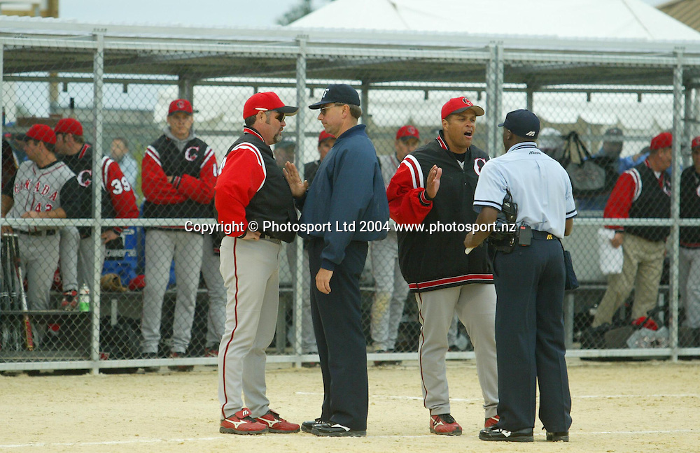 7th February 2004, ISF Men's Softball World Championships, Christchurch, New Zealand.<br />