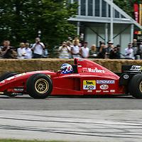 Ferrari 412 T2 (1995) of Gerhard Berger at Goodwood Festival of Speed 2008