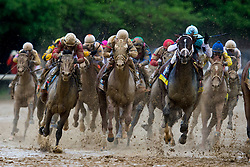 Orb with Joel Rosario, left, up won the139th running of the Kentucky Derby May 3, 2013 at Churchill Downs. Photo by Jonathan Palmer