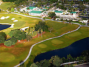 Aerail view of Club House at Weston Hills Country Club, Weston, Florida
