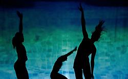 05.05.2011, Ferry Porsche CONGRESS CENTER, Zell am See, AUT, IRONMAN 70.3 Salzburg, im Bild Schattenspiele, drei Silhouetten im Wasser während der Präsentations- Pressekonferenz des Ironman 70.3 Zell am See Kaprun, der am 26. August 2012 erstmals über die Bühne geht // Shadow games, three silhouettes in the water, Feature, EXPA Pictures © 2011, PhotoCredit: EXPA/ J. Feichter