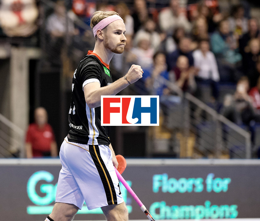 BERLIN - Indoor Hockey World Cup<br /> Men: Germany - Australia<br /> foto: Christopher R&uuml;hr.<br /> WORLDSPORTPICS COPYRIGHT FRANK UIJLENBROEK