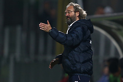 November 12, 2017 - Teramo, TE, Italy - Giovanni Pagliari head coach of A.S. Gubbio 1910 during the Lega Pro 17/18 group B match between Teramo Calcio 1913 and AS Gubbio 1910 at Gaetano Bonolis stadium on November 12, 2017 in Teramo, Italy. (Credit Image: © Danilo Di Giovanni/NurPhoto via ZUMA Press)