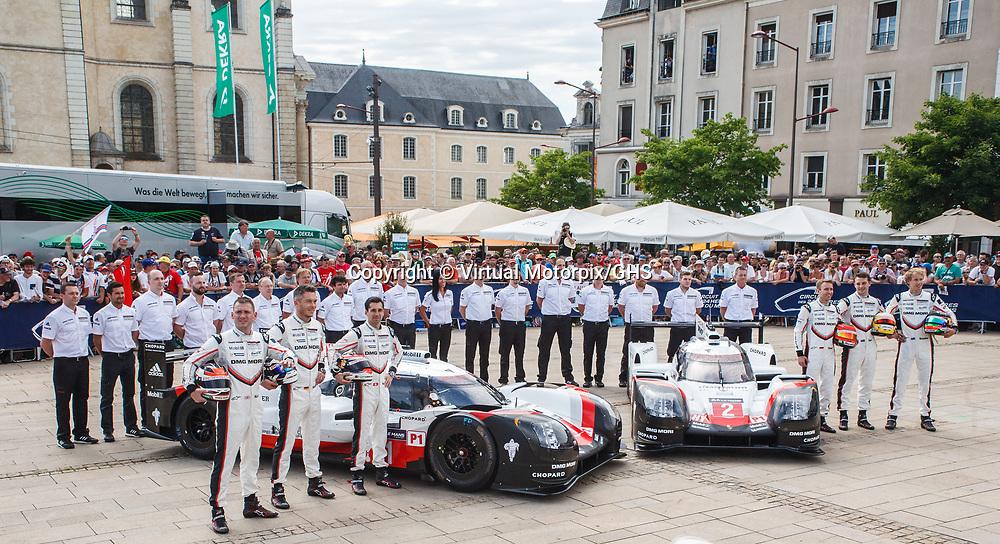 #1,  Porsche Team, Porsche 919 Hybrid, driven by: Neel Jani, Andre Lotterer, Nick Tandy, #2,  Porsche Team, Porsche 919 Hybrid, driven by: Timo Bernhard, Earl Bamber, Brendon Hartley, on 11/06/2017 Scrutineering at the 24H of Le Mans, 2017