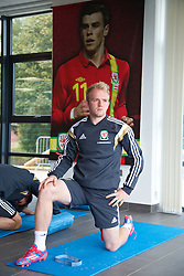 NEWPORT, WALES - Wednesday, October 8, 2014: Wales' Jonathan Williams training at Dragon Park National Football Development Centre ahead of the UEFA Euro 2016 qualifying match against Bosnia and Herzegovina. (Pic by David Rawcliffe/Propaganda)