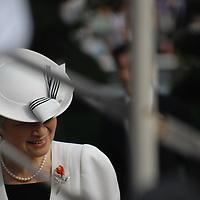 2009-09-23  Tokyo, Emperor of Japan Akihito,and his wife Michiko Shoda visit horse festival.Pierre Boutier