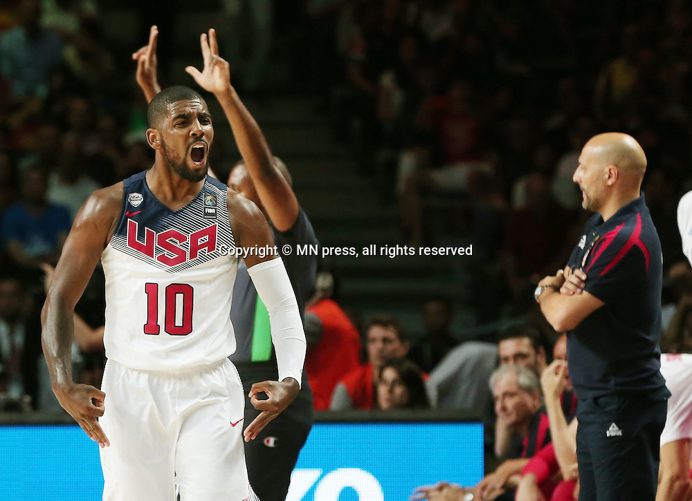 KYRIE IRVING of United states of America basketball team in action during Final FIBA World cup match against Serbia, Madrid, Spain Photo: MN PRESS PHOTO<br /> Basketball, Serbia, United states of America, Final, FIBA World cup Spain 2014