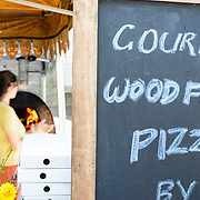 Food stall at Hobart's Salamanca Market