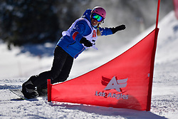 Snowboarder Cross Action, HERNANDEZ-CERVELLON Cecile, FRA at the 2016 IPC Snowboard Europa Cup Finals and World Cup