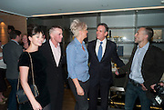Gizzi Erskine, Gary Rhodes, Silvena Rowe, Thomas Keller ; Michel Roux Jr, The French Laundry reception to celebrate the October opening of the 10-day pop-up ' French laundry restaurant in Harrods. The Penthouse, Harrods. London. 31 August 2011.<br /> <br />  , -DO NOT ARCHIVE-© Copyright Photograph by Dafydd Jones. 248 Clapham Rd. London SW9 0PZ. Tel 0207 820 0771. www.dafjones.com.